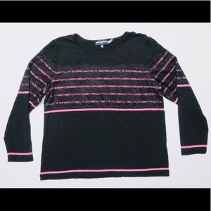 Karl Lagerfeld Lace Overlay Top